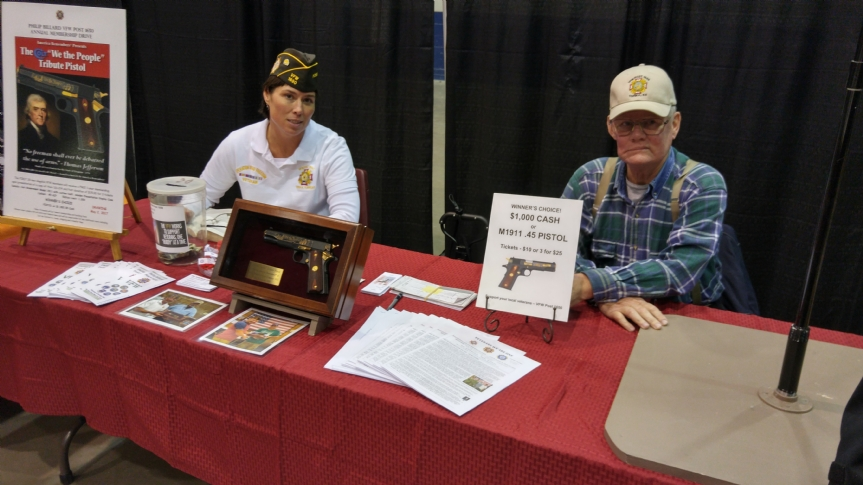 Angie and Andy December 2016 Fundraising at a gun show